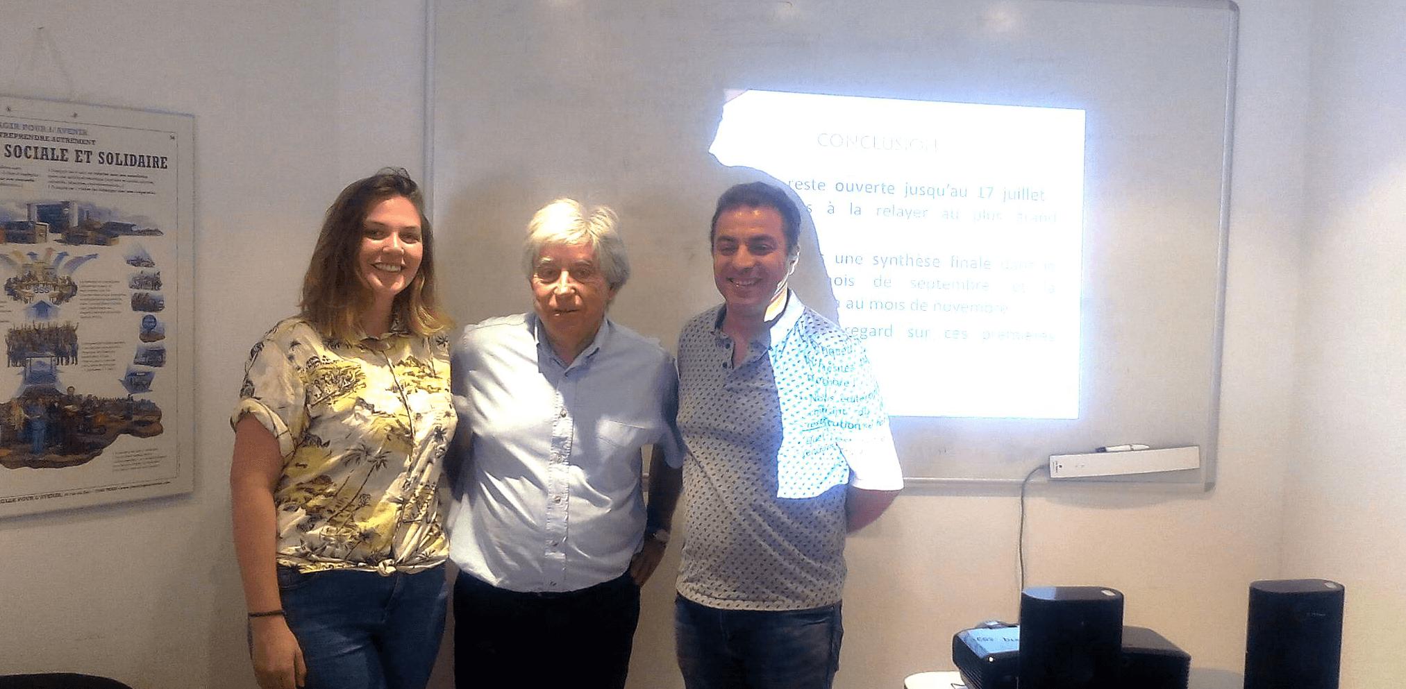 Clémentine Fournier, Jean-Claude Eyraud et Sam Khebizi