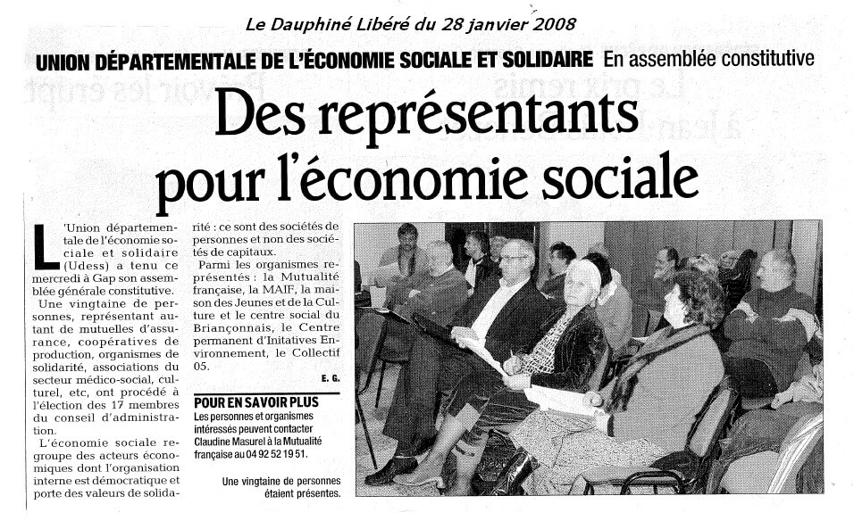 Article DL AG constitutive de l'Udess 05