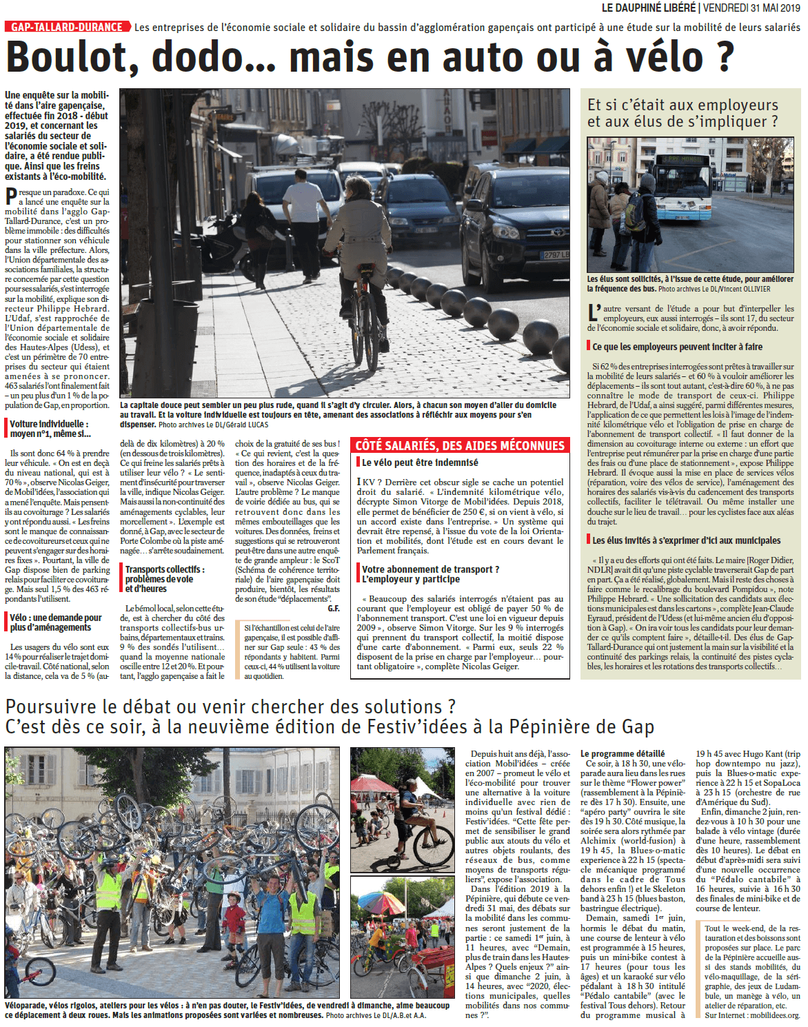 Article du DL paru le 31 mai 2019